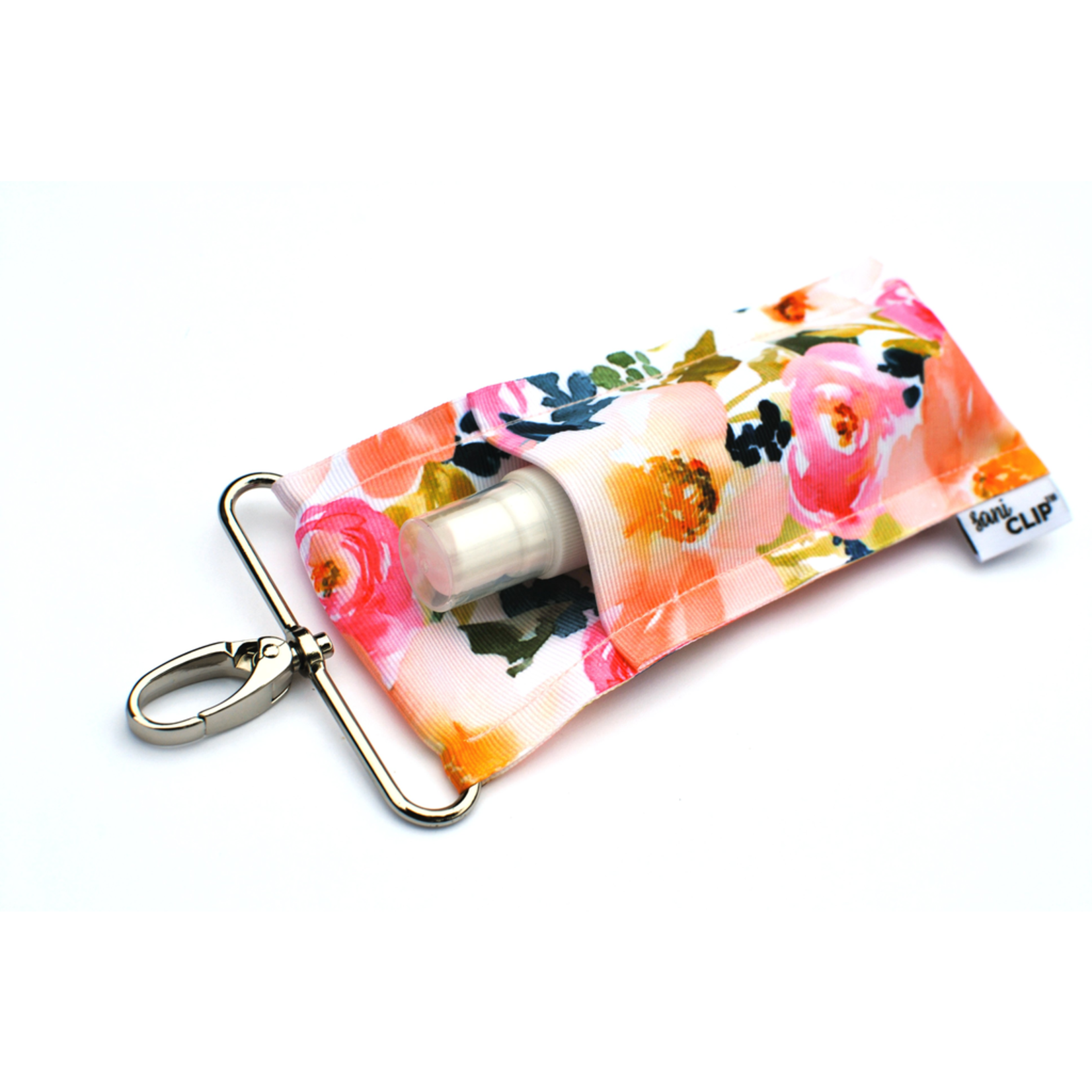 LippyClip Peach Floral SaniClip