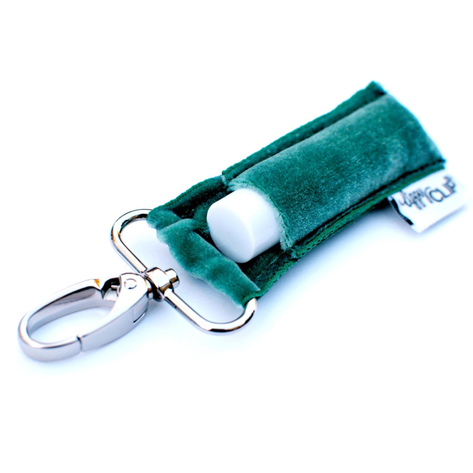 LippyClip Green Velvet lip balm holder