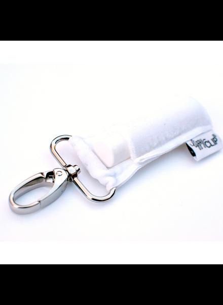 LippyClip White Velvet lip balm holder