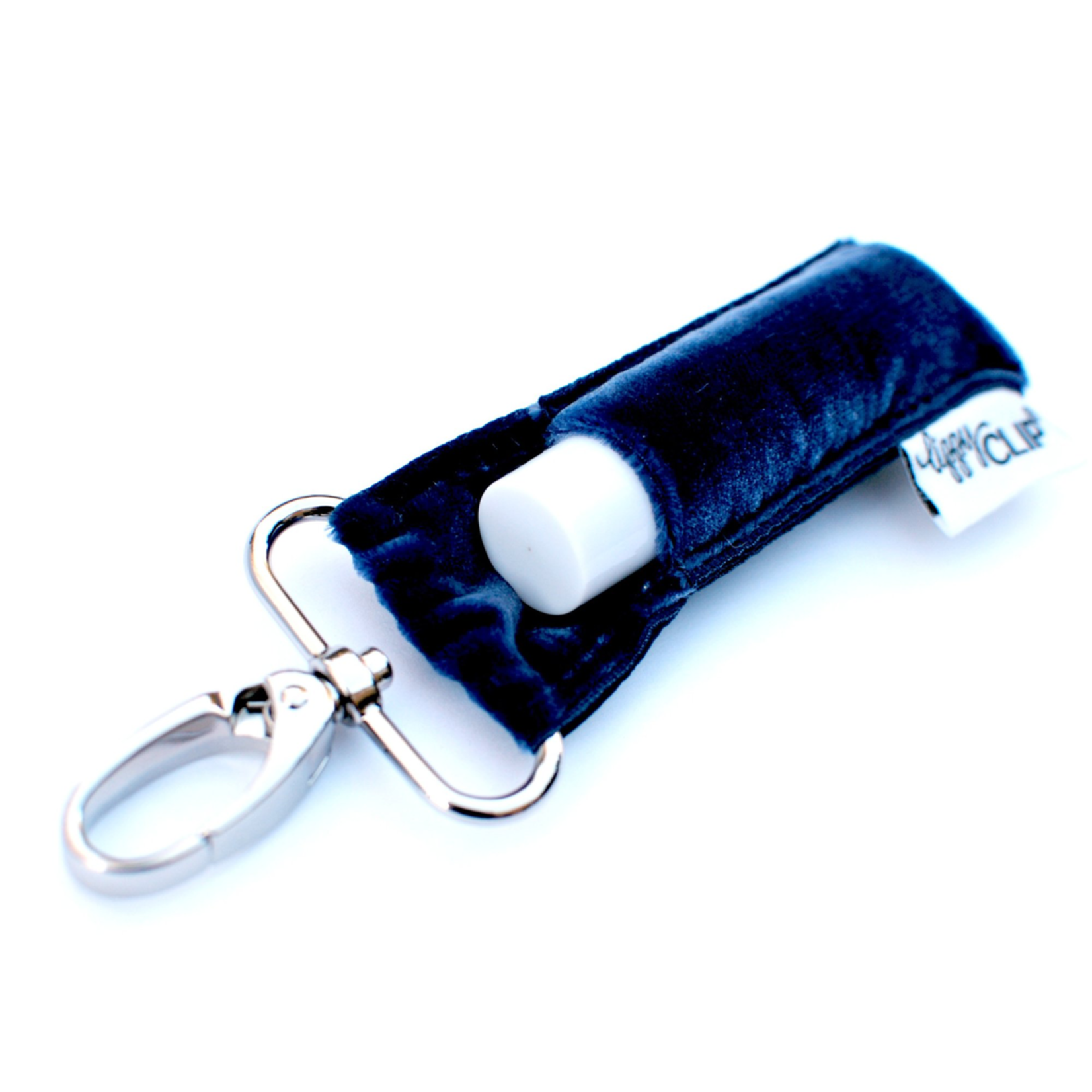 LippyClip Navy Velvet lip balm holder