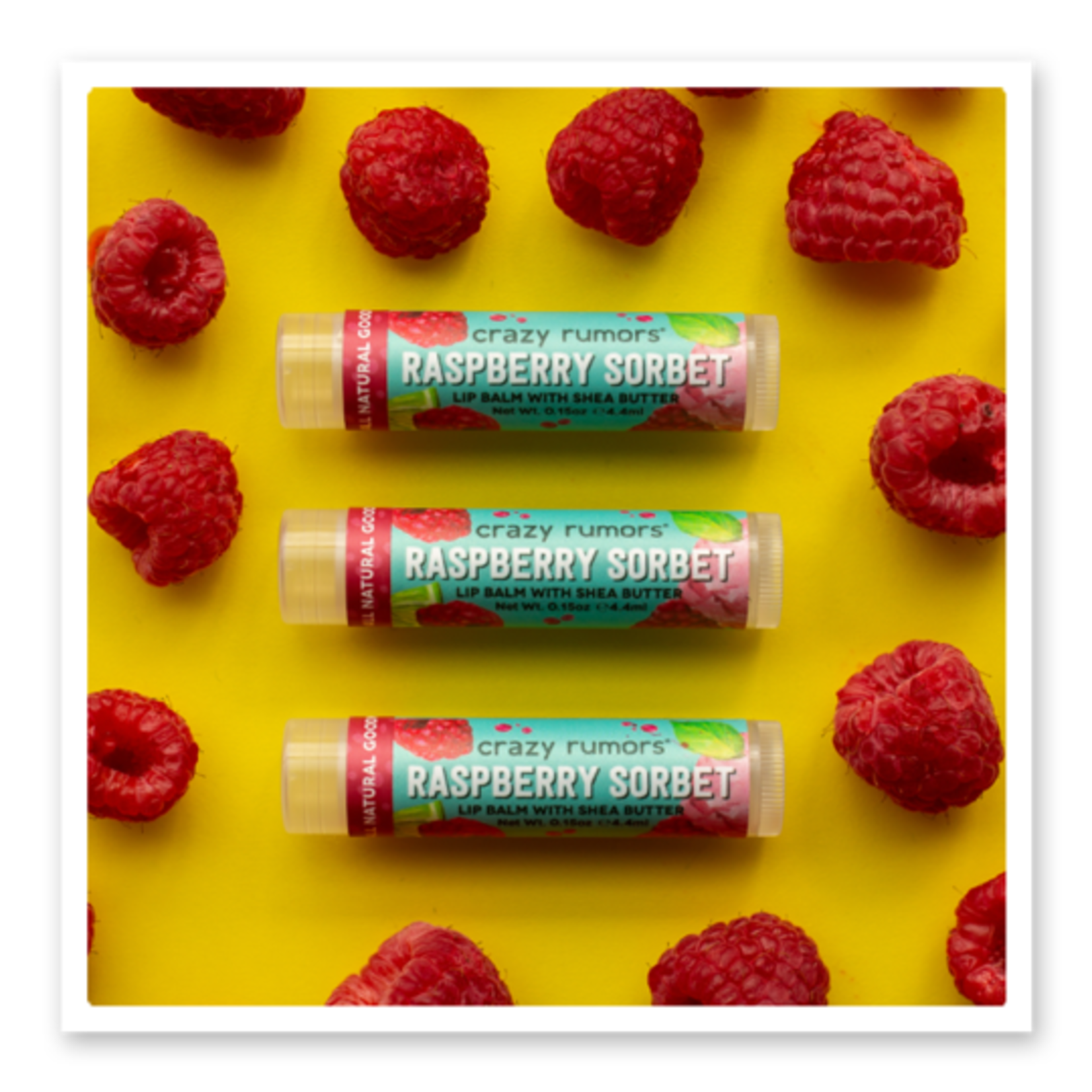 Crazy Rumors Raspberry Sorbet Lip Balm