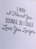 DeLuce Design Anniversary Love card