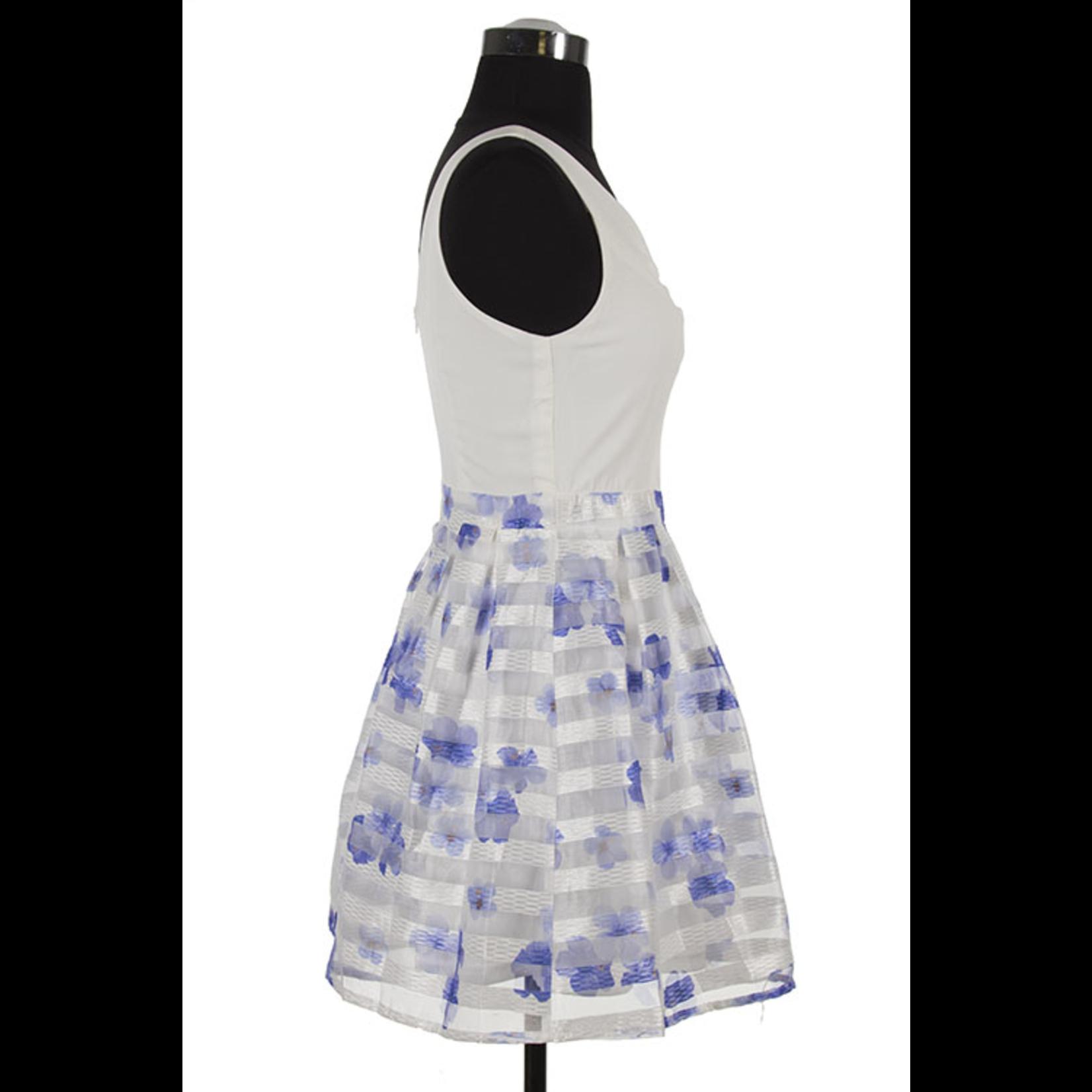 Decapolis Sleeveless, striped skirt dress, sale item, Was $62