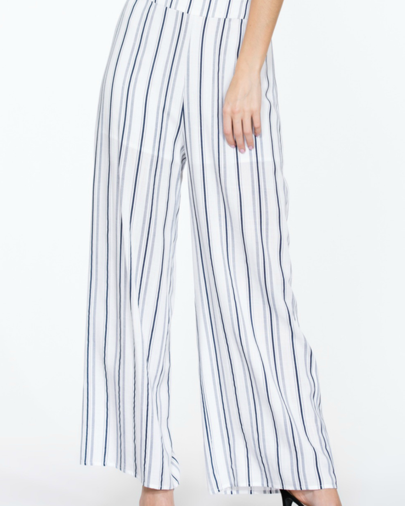 The Room Label Striped wide leg pant, sale item, Was $48