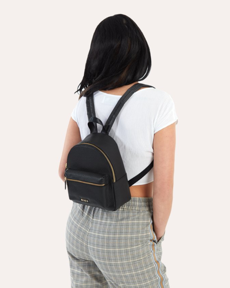 Kiko Leather Small Backpack
