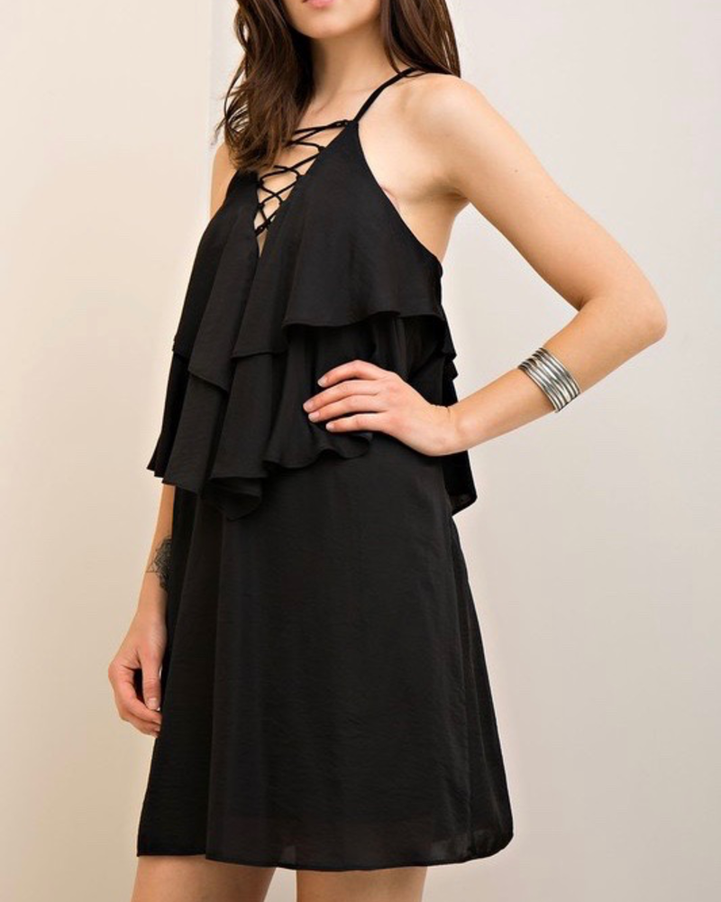 Entro Ruffle Shift Dress, sale item, Was $52