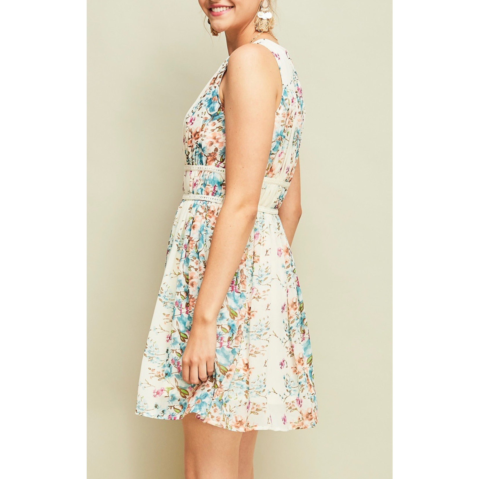 Entro Pleated floral dress