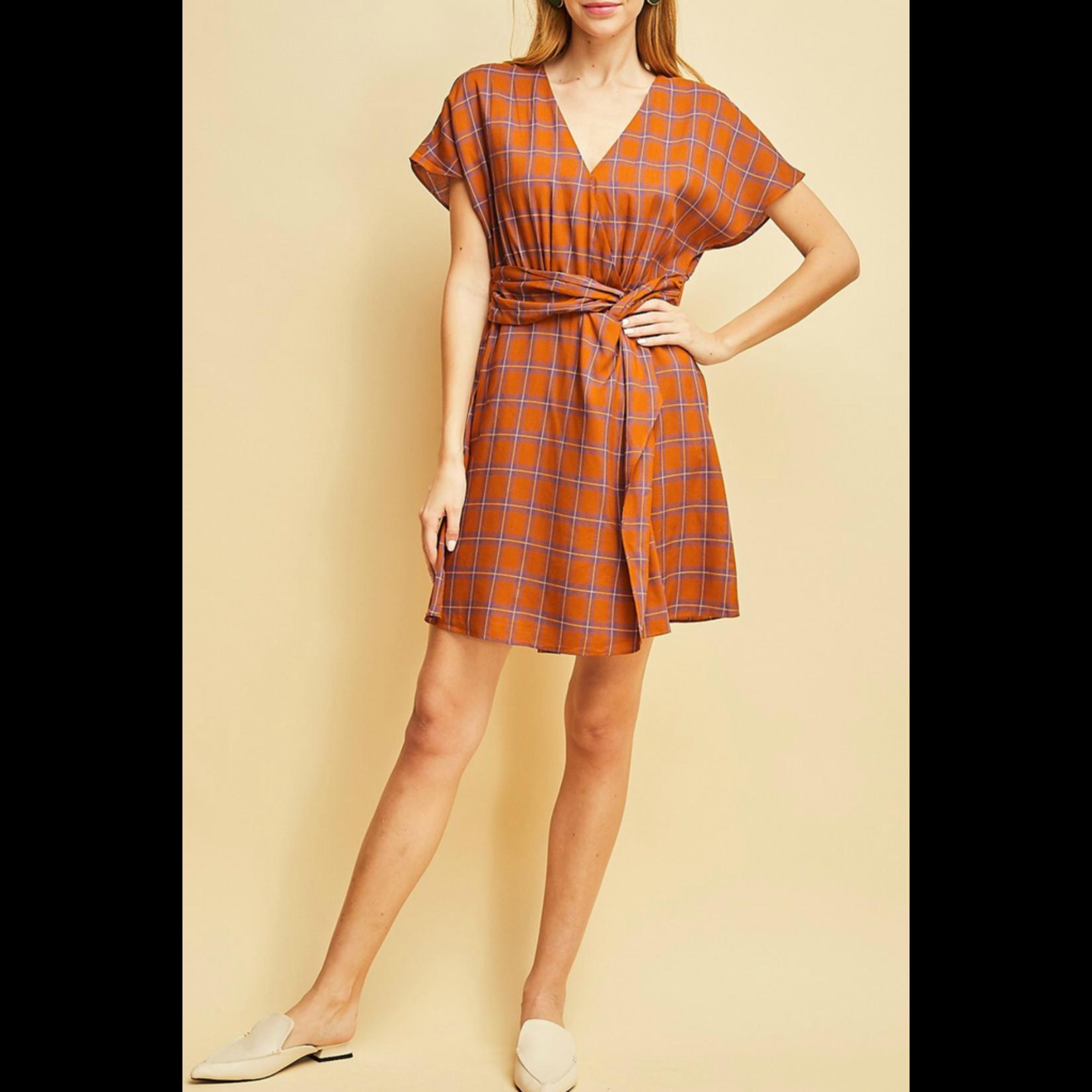 Entro Plaid print dress