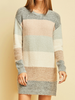 Entro Color Blocked Sweater Dress