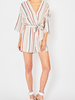 Entro Striped 3/4 sleeve romper, sale item, Was $58