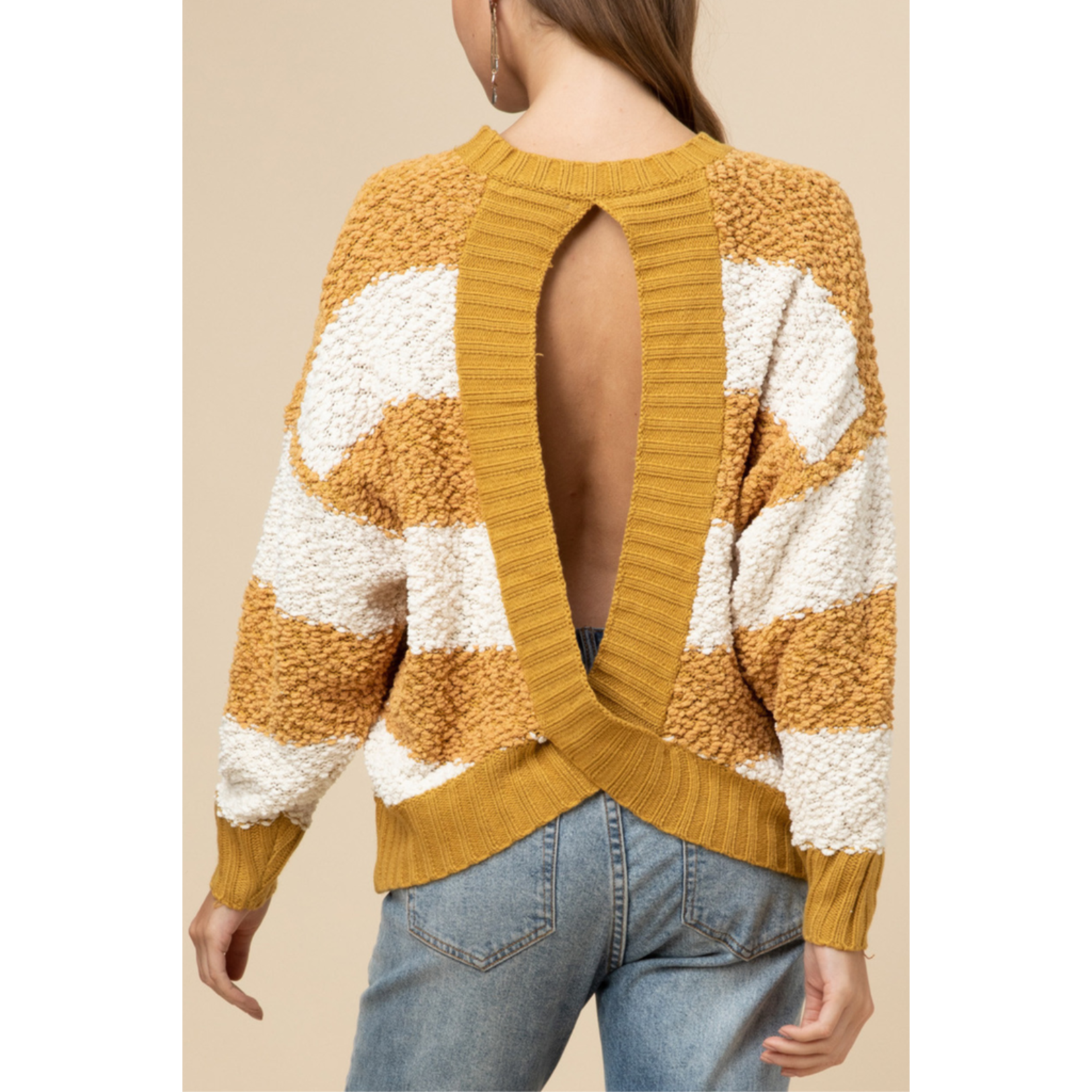 Entro Open Back Sweater