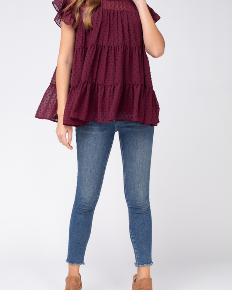 Entro Dotted tiered top