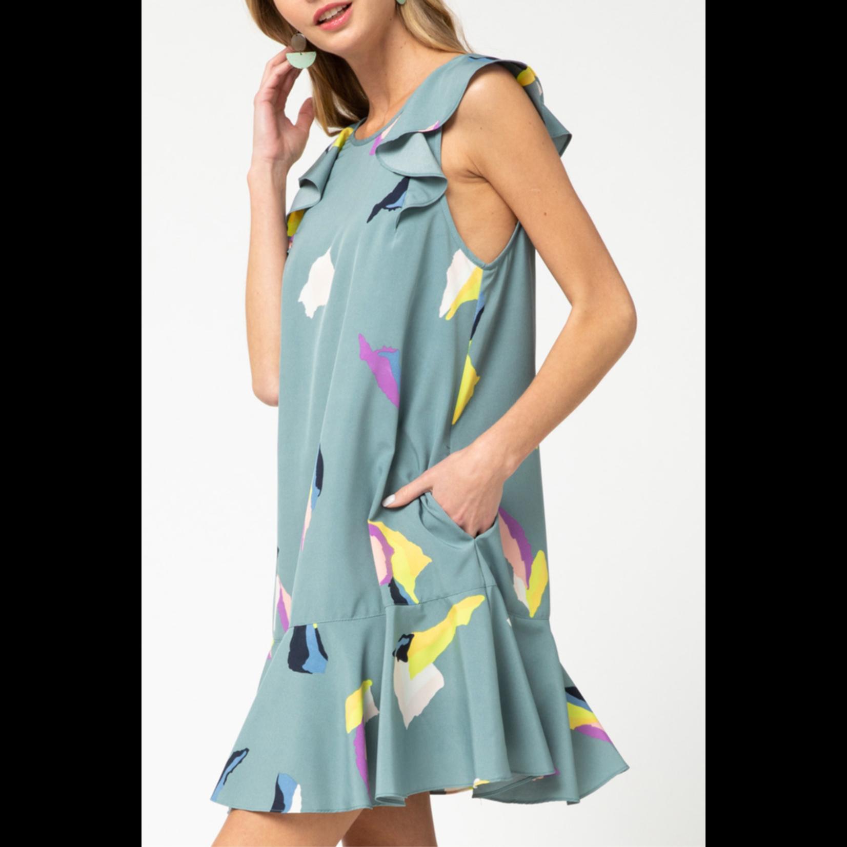 Entro Ruffle Detail Dress