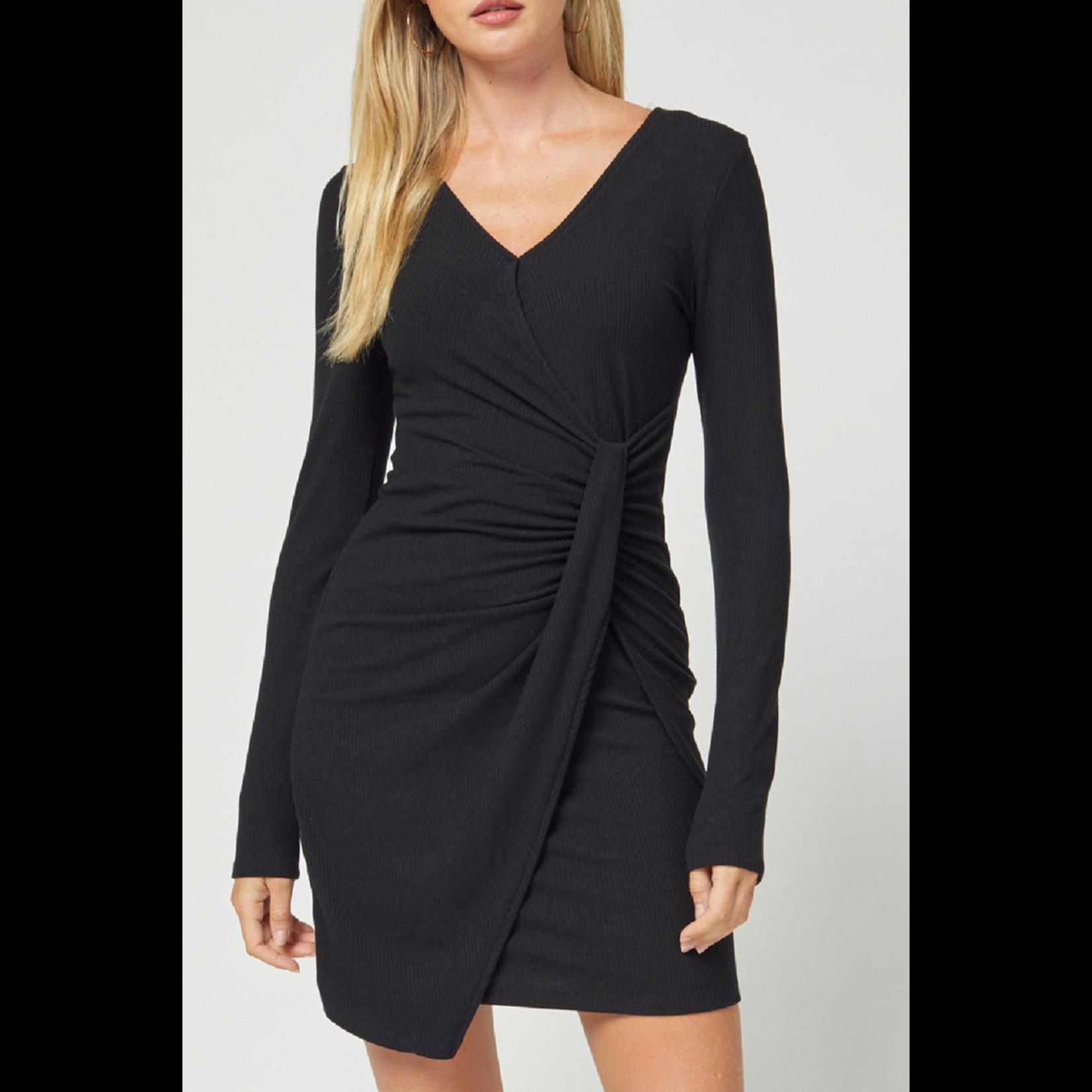 Entro Long Sleeve Ribbed Dress