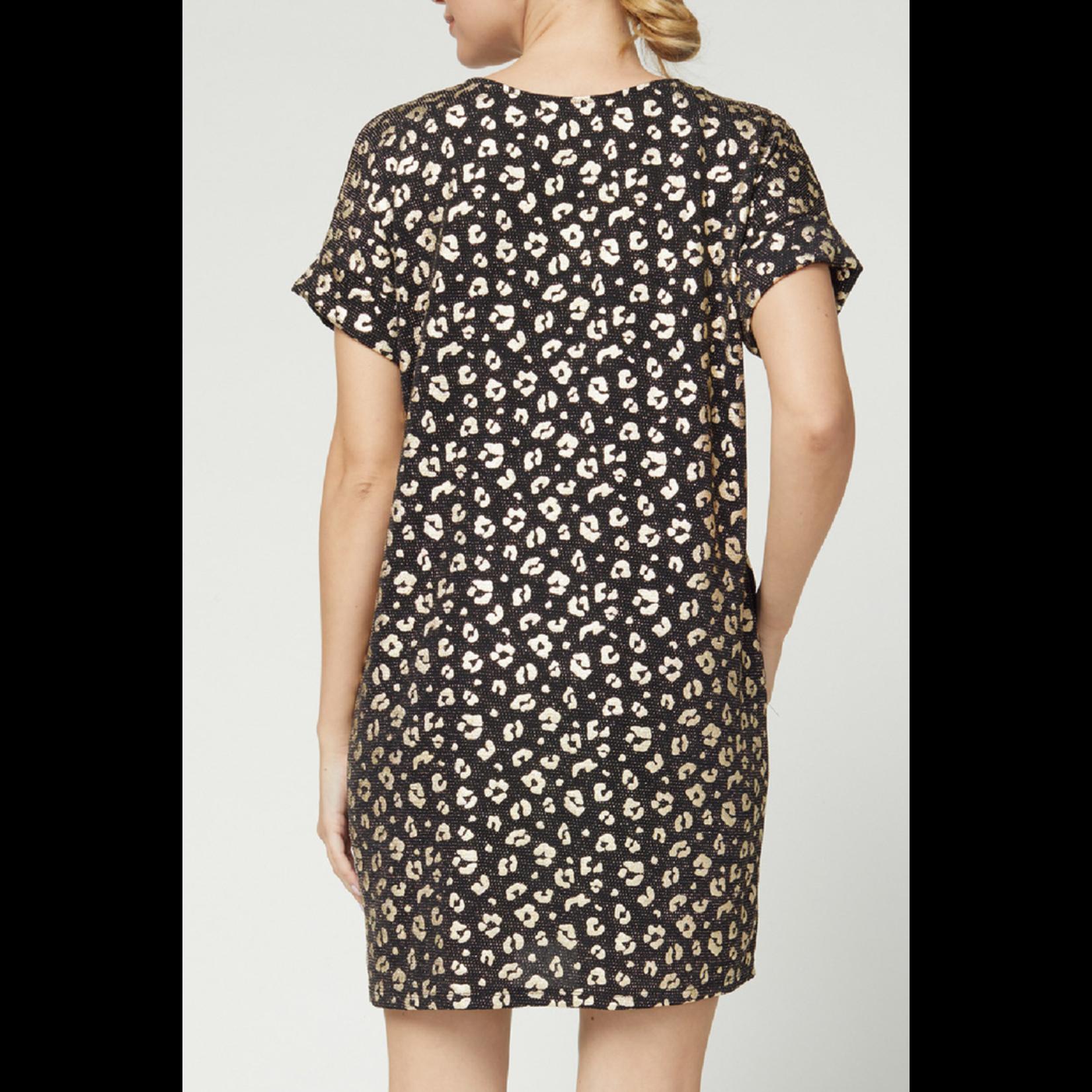 Entro Metallic print dress