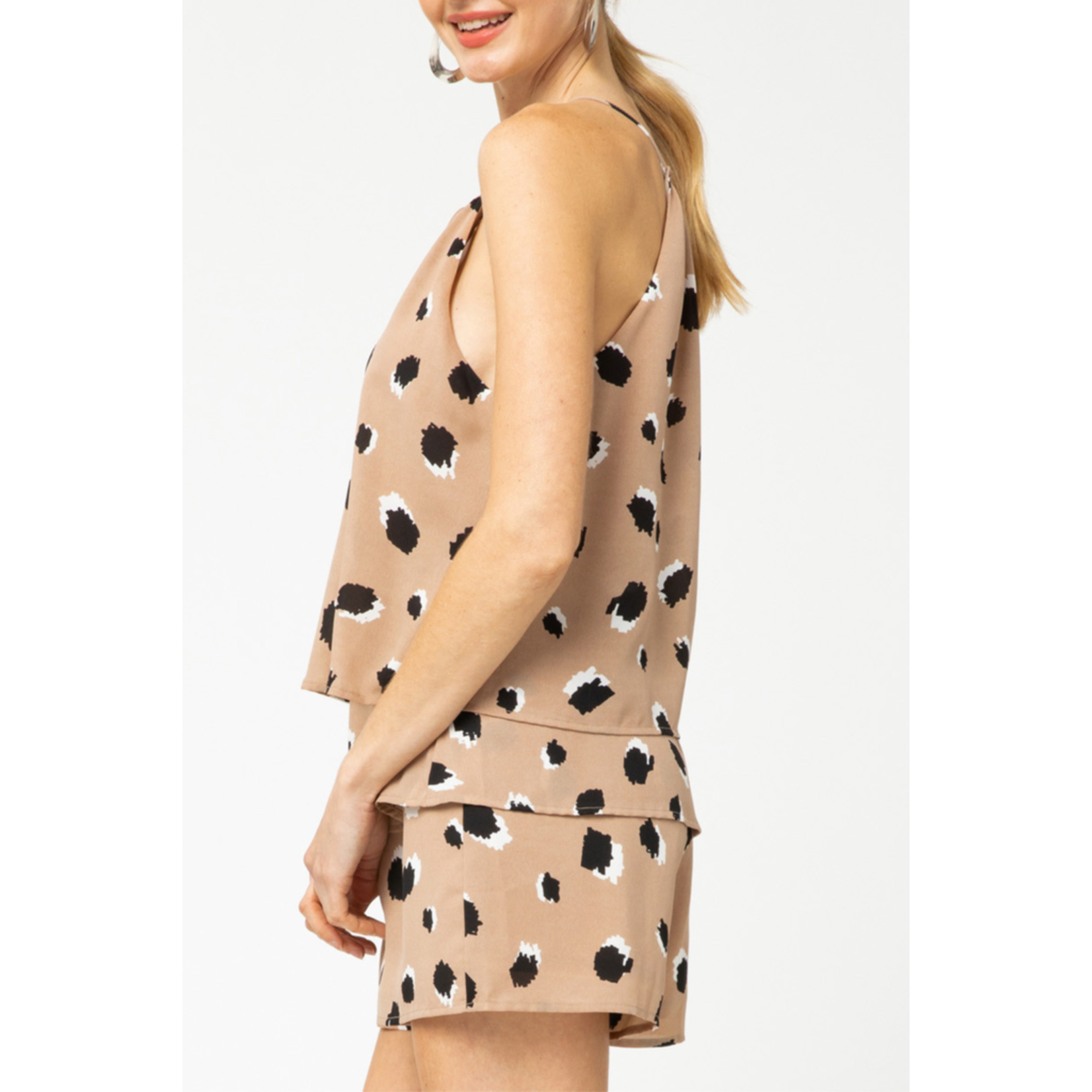 Entro Tiered printed romper