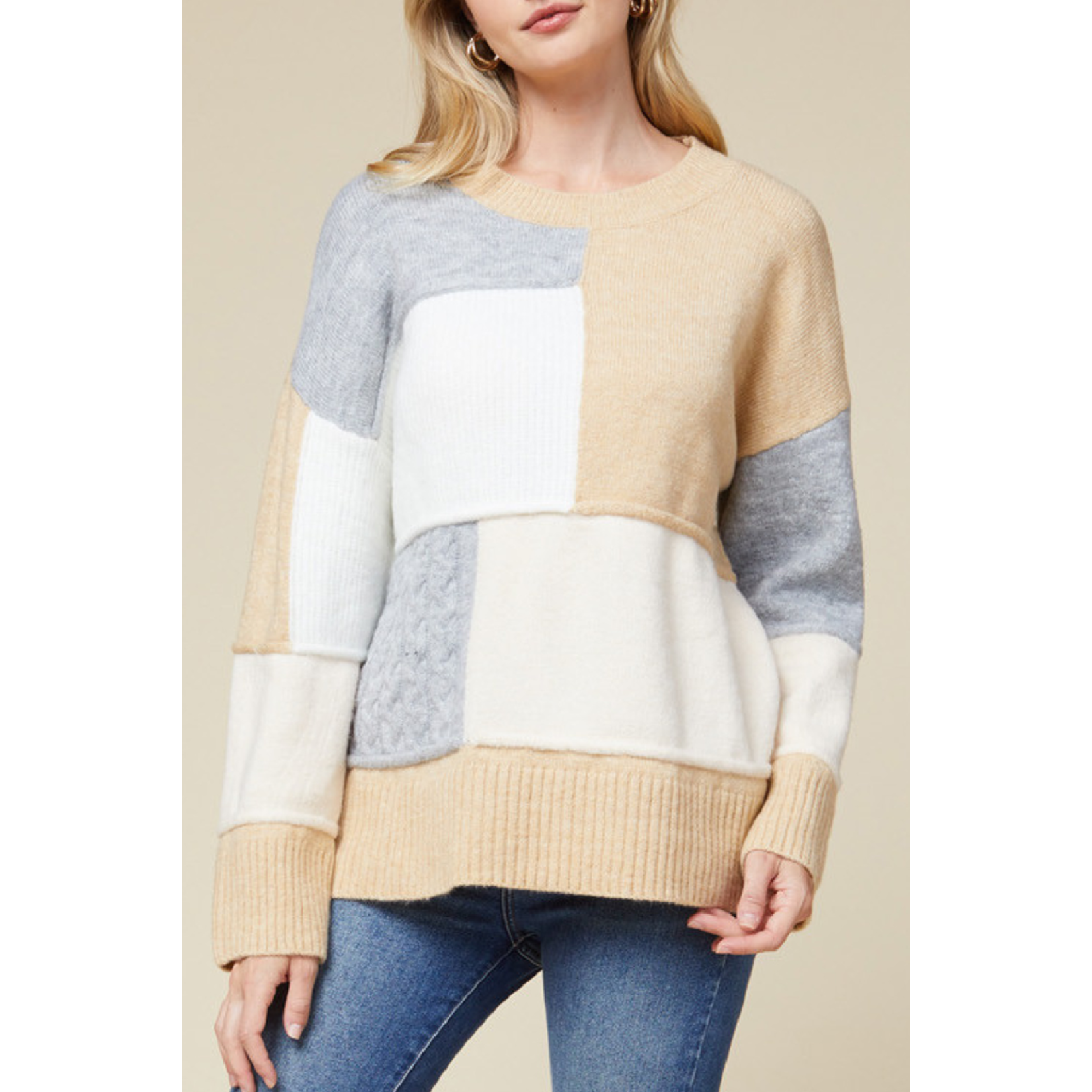 Entro Color blocked Sweater