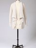 Tulle Tulle Hooded Open Cardigan