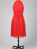 Tulle Tulle Mock Neck Midi Dress with Button Detail at Back, $38, was $77