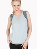 Tulle Tulle Sleeveless Top with Pleat Details in Front, sale item, Was $55