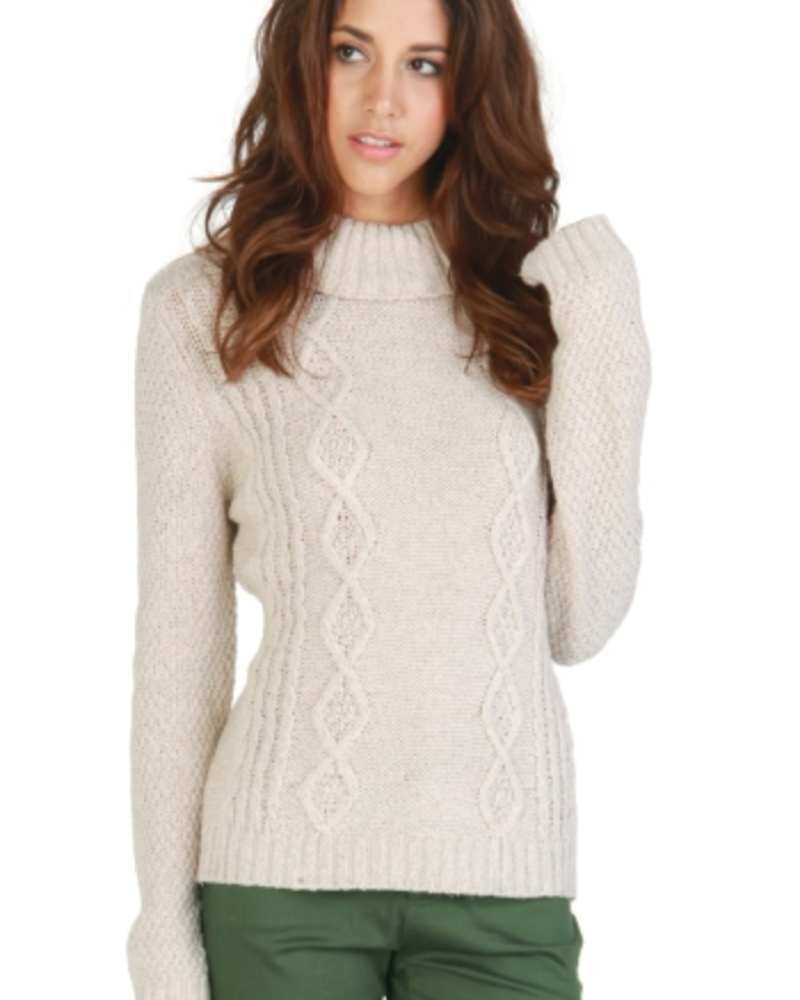 Tulle Tulle Ribbed Cowl Neck Sweater, SALE, Was 60.00, Final Sale