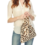 Two's Faux Fur Leopard Bag