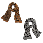 Two's Reversible Leopard scarf