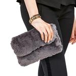Two's Faux Fur Chain Bag