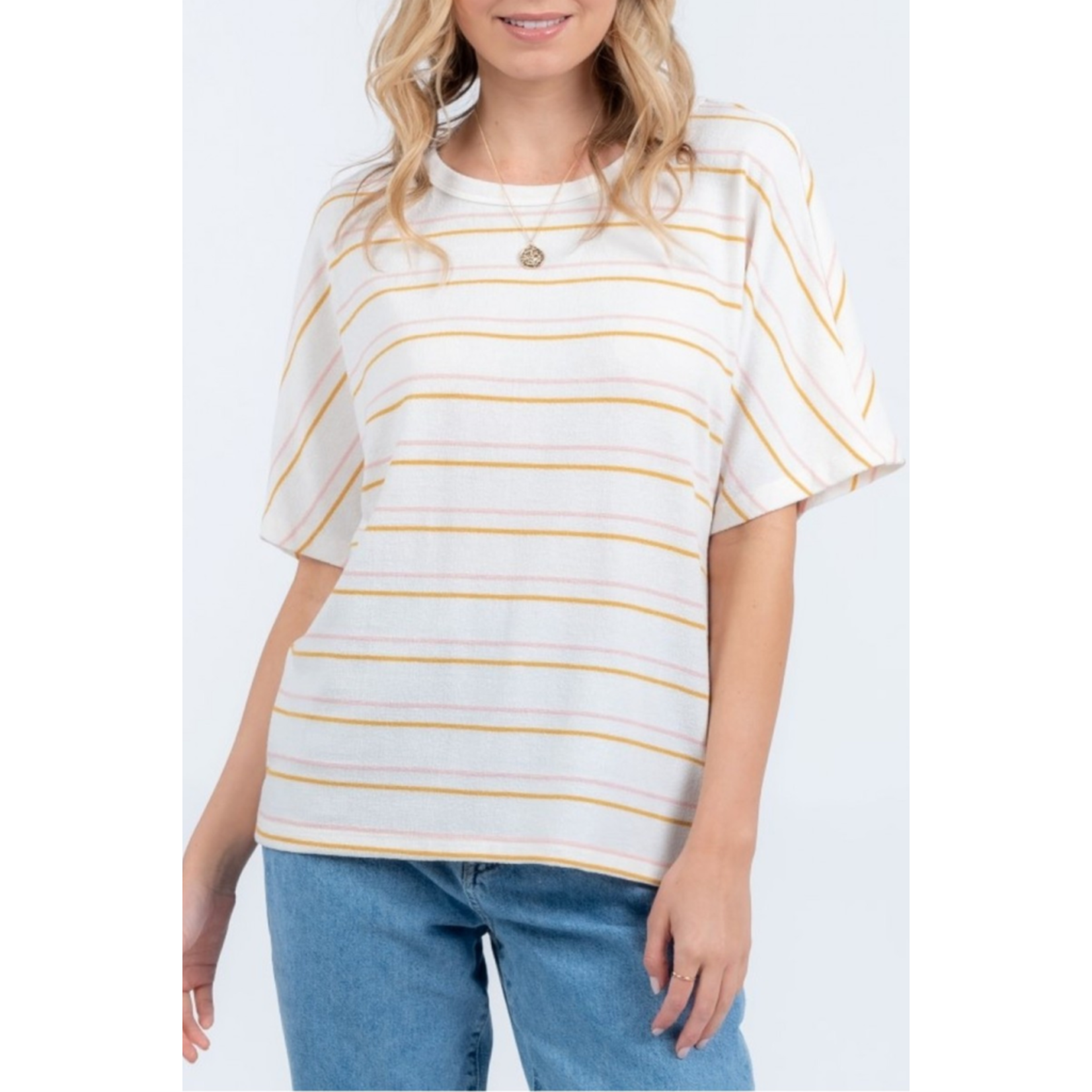 Everly Twist back knit top
