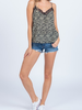 Everly Printed Cami with Lace