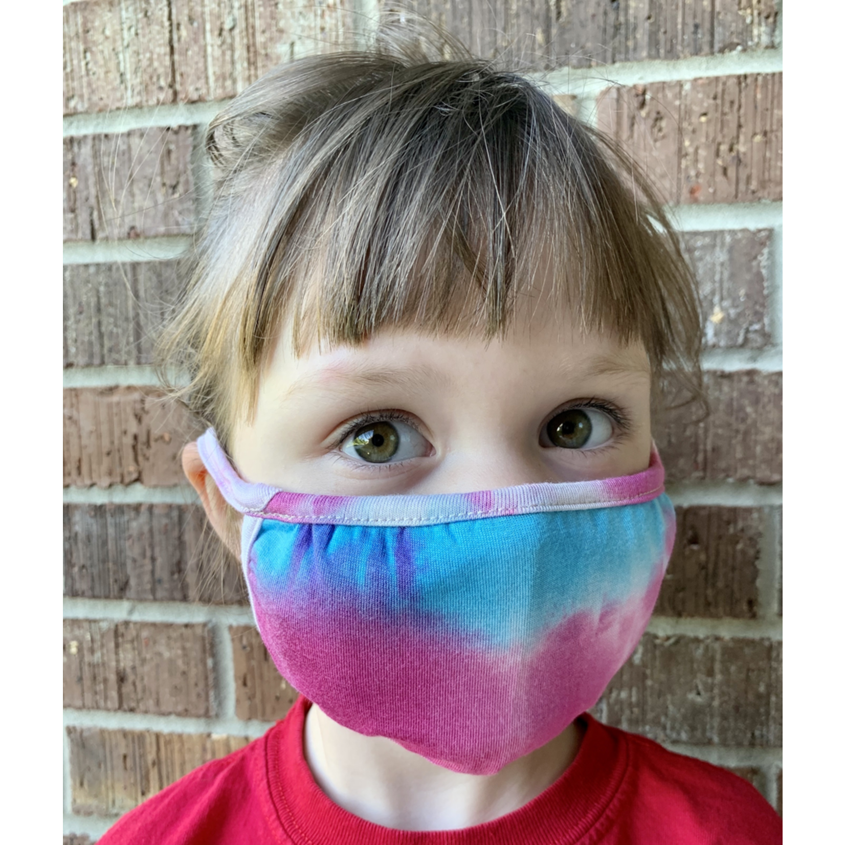 Coin 1804 Kids rainbow tie dye mask