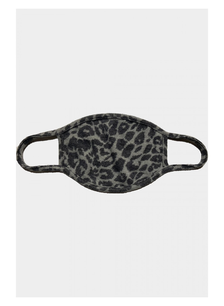 Coin 1804 Cozy Mask Animal Print Grey