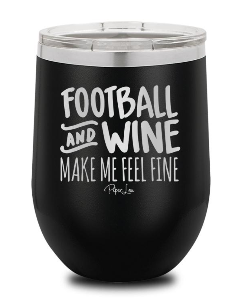 Piper Lou Football And Wine Wine Cup, sale item, Was $29.99