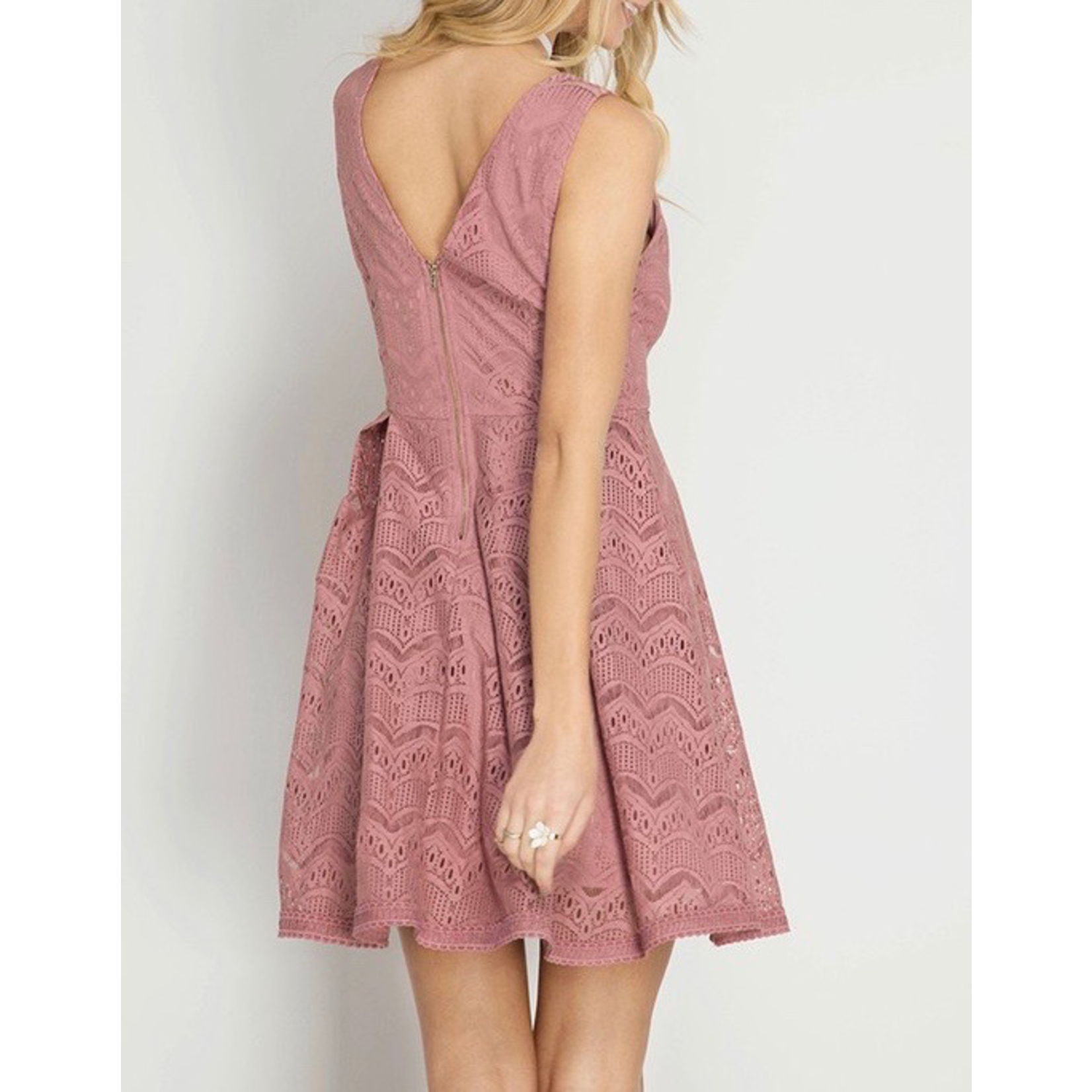 She & Sky Sleeveless Fit and Flare Dress, sale item, Was $54