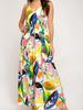 She & Sky Leaf Print Maxi Dress