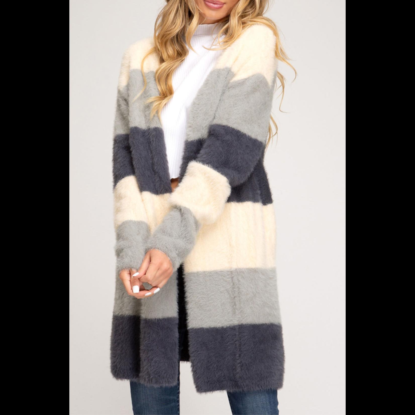 She & Sky Soft Fuzzy Cardigan