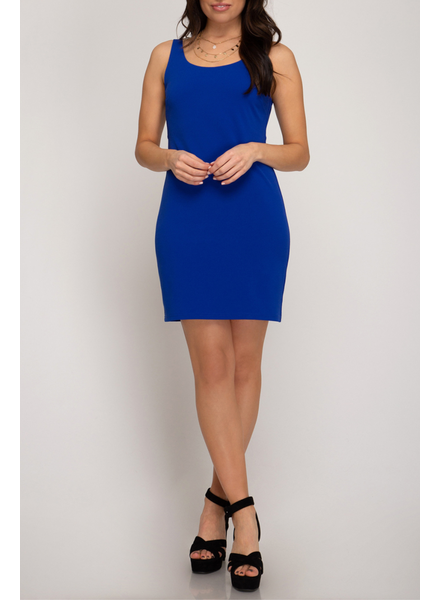 She & Sky Back Cutout Dress