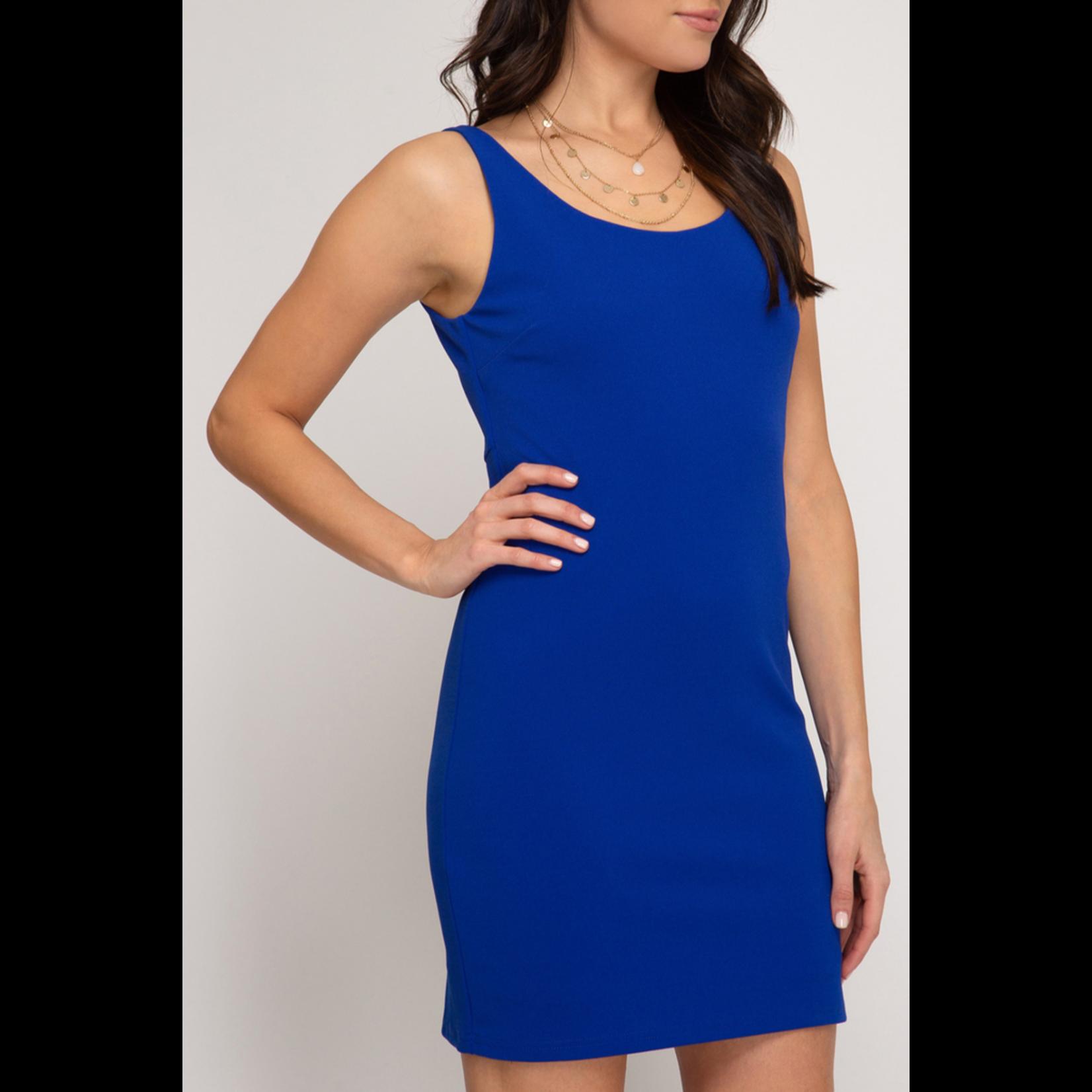 She & Sky Back Cutout Dress
