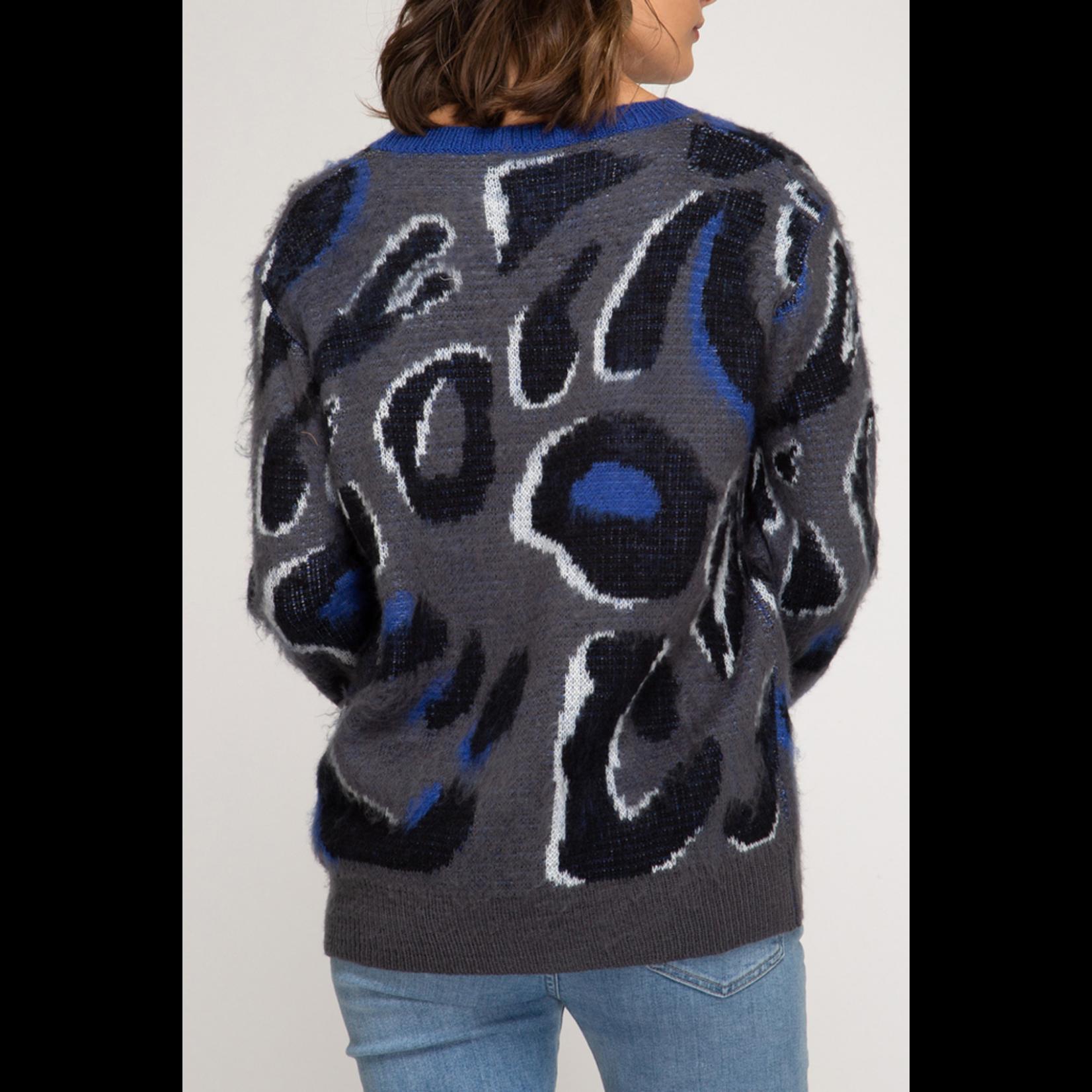 She & Sky Leopard Print Sweater