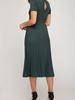 She & Sky Faux Suede Midi Dress