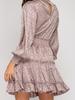 She & Sky Smocked jacquard dress