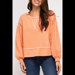 She & Sky Reverse stitch sweatshirt