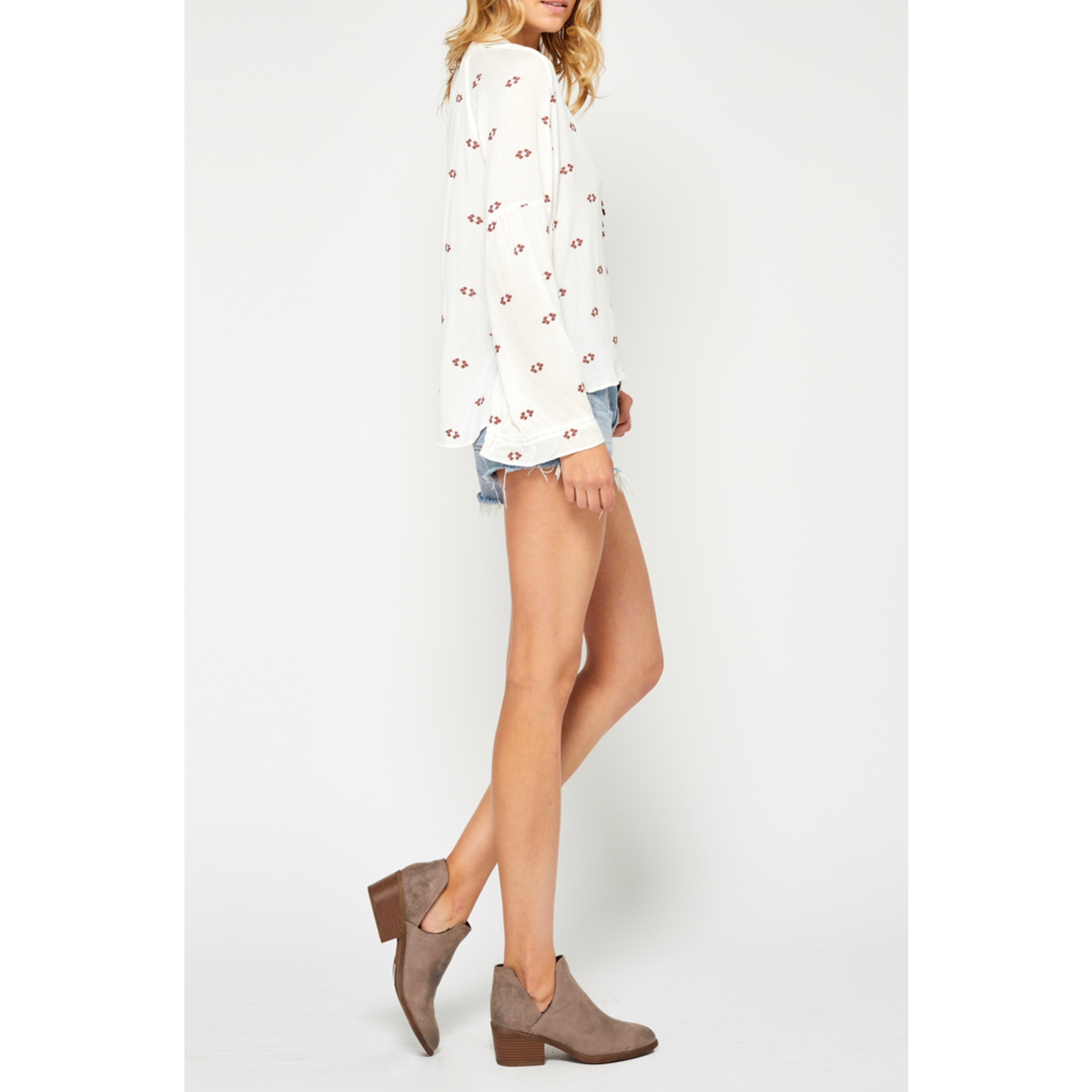 Gentle Fawn Bell Sleeve Blouse