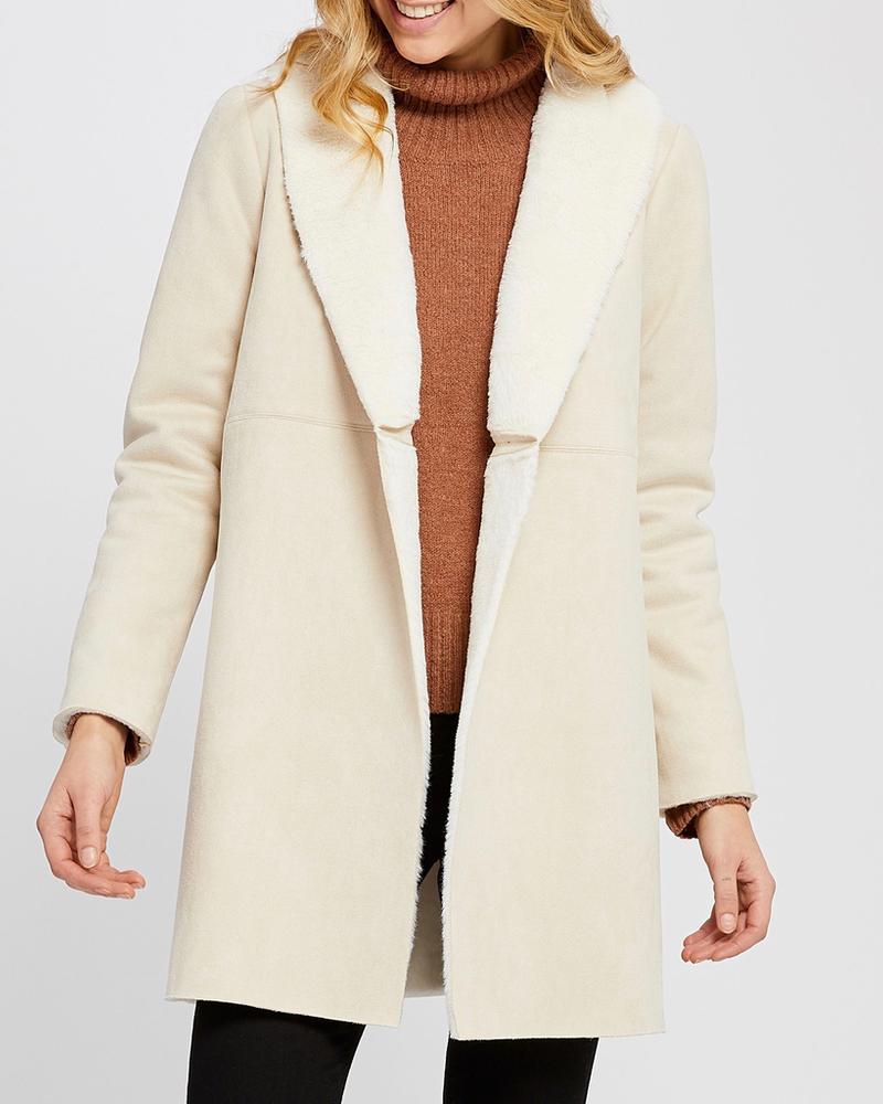 Gentle Fawn Faux suede coat