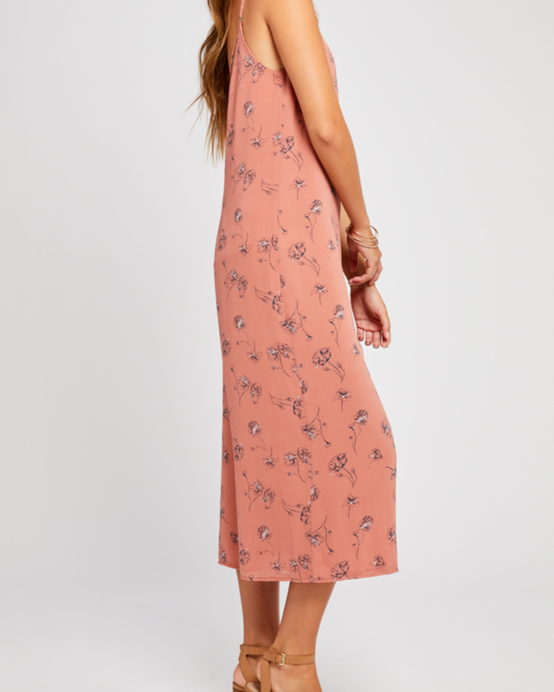 Gentle Fawn Printed Cropped Jumpsuit