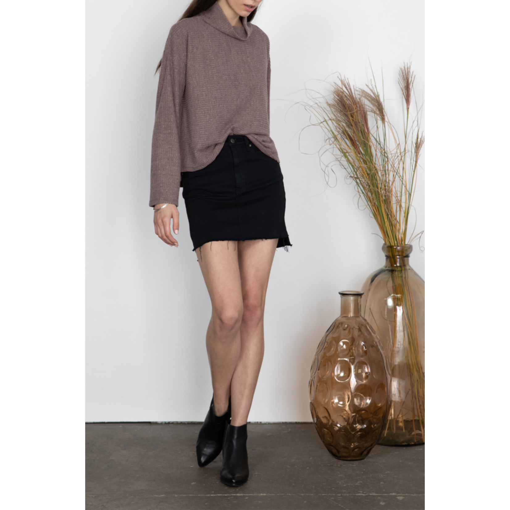 Gentle Fawn Ribbed High Neck Top