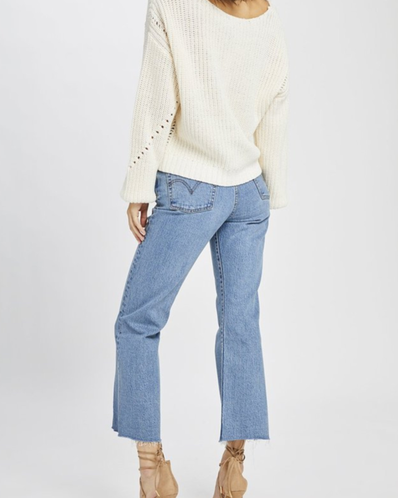 Gentle Fawn Open weave sweater