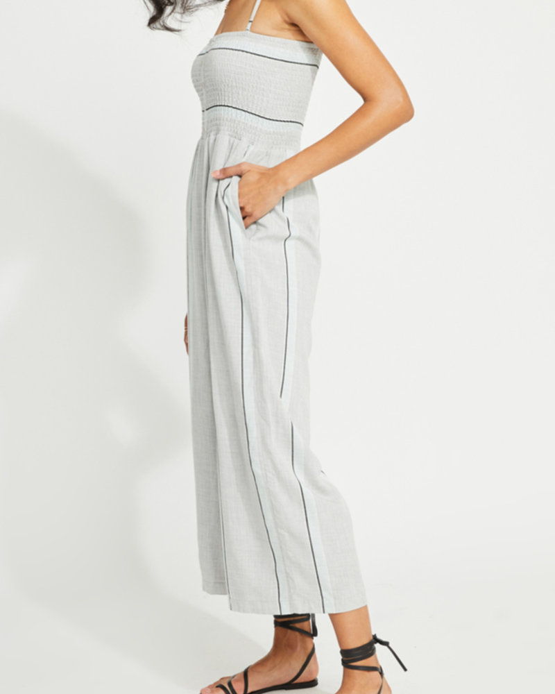 Gentle Fawn Striped smocked jumpsuit
