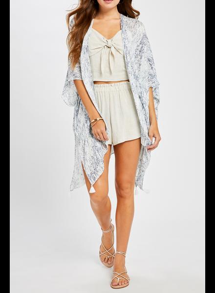 Gentle Fawn Printed Summer Kimono