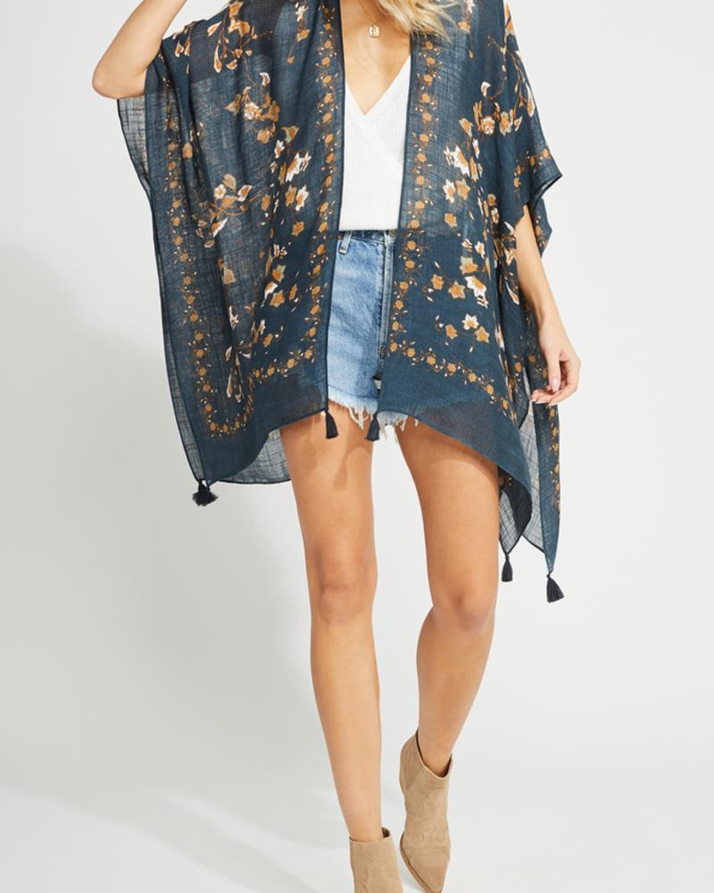 Gentle Fawn Tassel Kimono